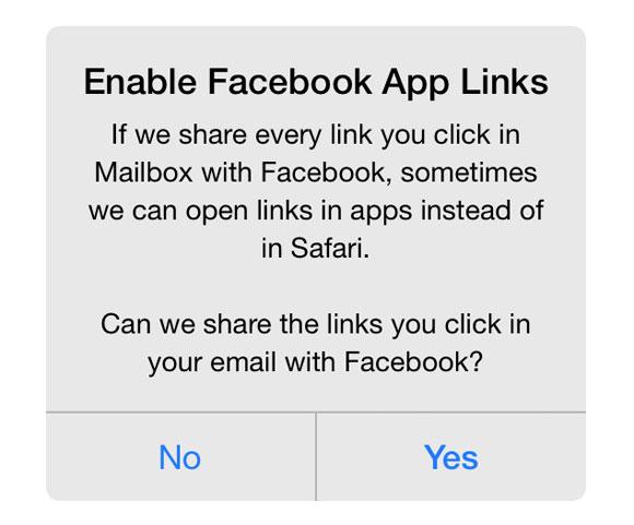 Opción para Facebook App Links