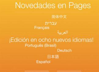Nuevos idiomas en Pages