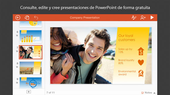 PowerPoint para iPhone