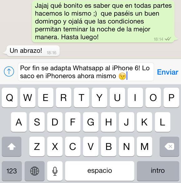 Whatsapp en el iPhone 6