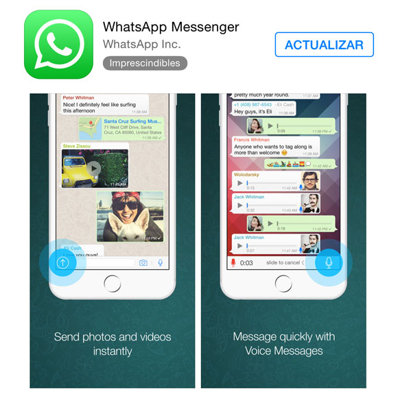 Whatsapp en la App Store