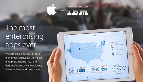 Apps empresariales de Apple e IBM