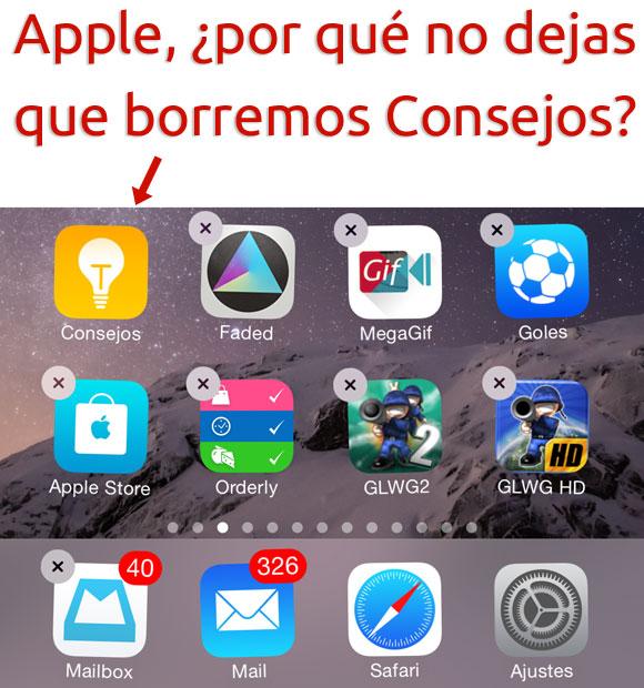 Borrar Apps de Apple