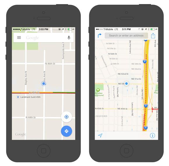 Google Maps y Mapas de Apple