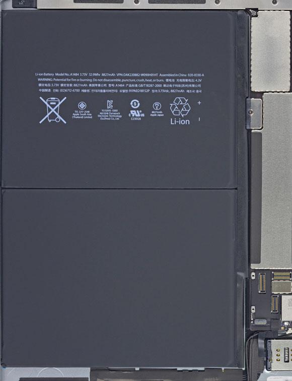 Interior del iPad Air LTE