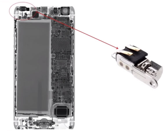 Motor de Vibración del iPhone 5S