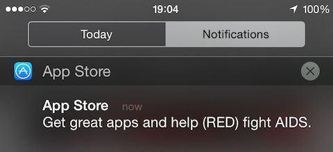 Notificación de Apple