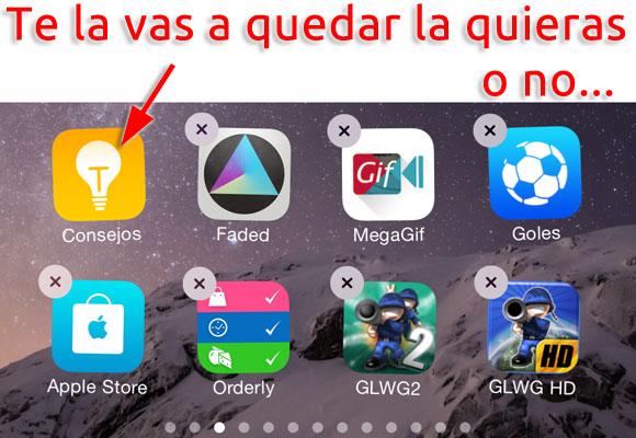 App de Consejos: Te la quedas la quieras o no