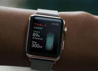 App de Tesla en el Apple Watch