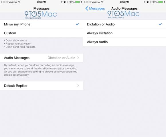 Configuración de mensajes en el Apple Watch