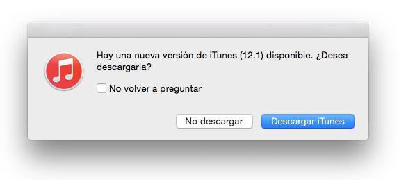 iTunes 12.1 listo para actualizar