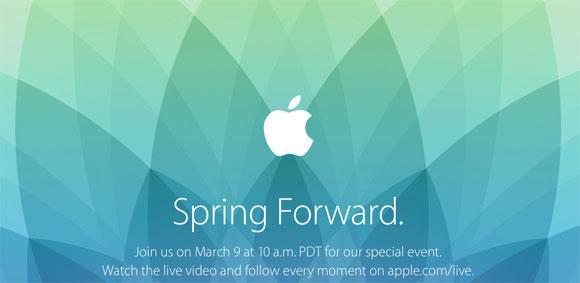 Spring Forward, evento especial de Apple para el día 9 de Marzo de 2015