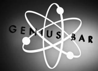 Símbolo del átomo en el Genius Bar