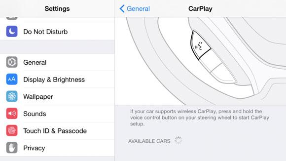 CarPlay inalámbrico en un iPad