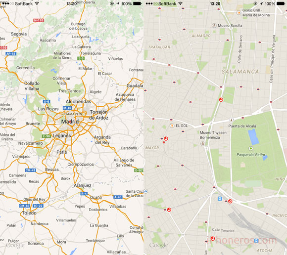Mapas a pantalla completa
