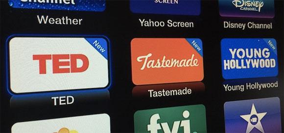 Canales de vídeo en el Apple TV