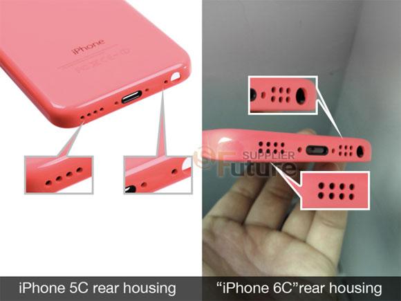 Orificios en el supuesto iPhone 6C