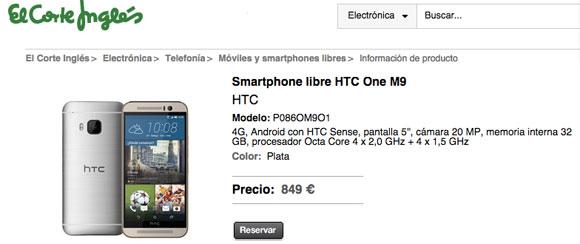 Precio del HTC One M9 en España