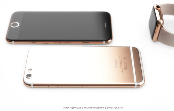 Concepto de diseño de iPhone 6 oro rosa