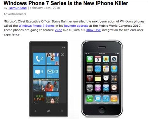Todos los Windows Phone 7
