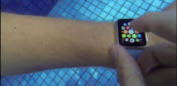 Apple Watch debajo del agua