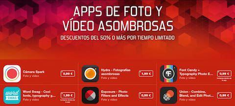 Apps de fotografía rebajadas