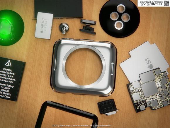 Concepto de diseño de Apple Watch por dentro