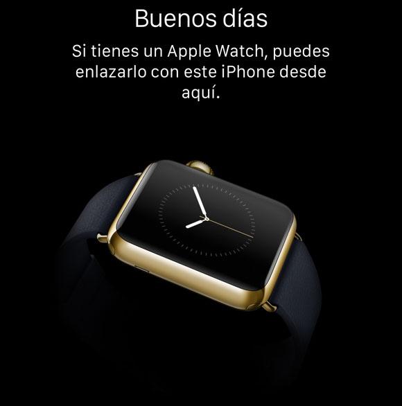 Enlazar iPhone con Apple Watch
