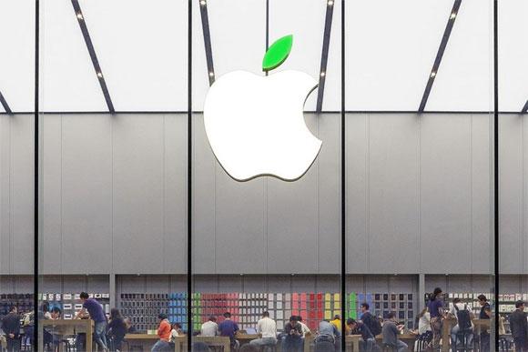 Hoja verde logotipo de Apple
