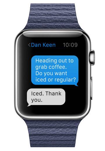 Mensajes en el Apple Watch