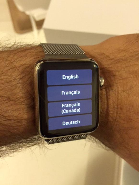 Elegir idioma en el Apple Watch