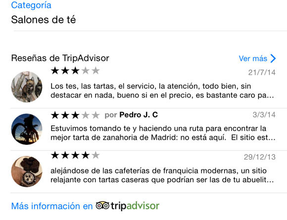Reseñas de Trip Advisor