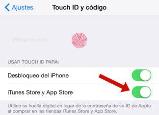 Touch ID en la App Store