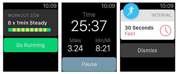Pantallazos de Apps del Apple Watch