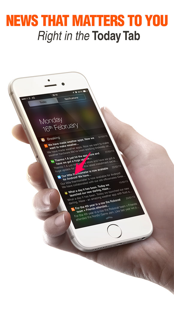 Android en una captura de pantalla