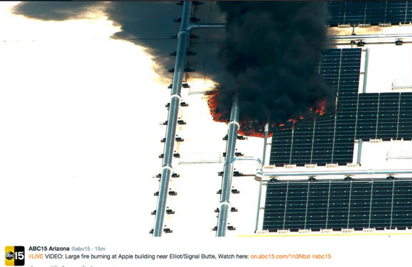 Incendio en la fábrica de GT Advanced