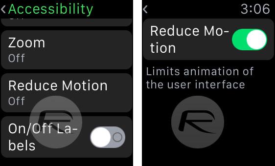 Reduce Motion en el Apple Watch