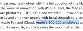 100.000 empleados en Apple