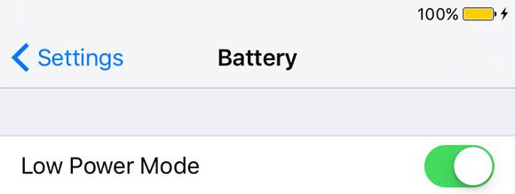 Ahorro de energía en iOS 9