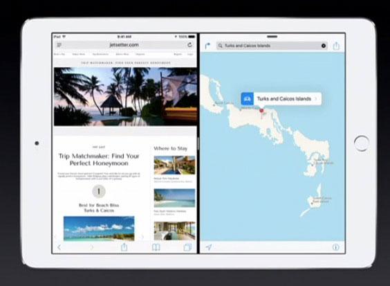 iPad Air 2 con dos Apps