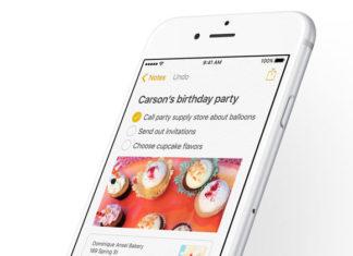 App de Notas de iOS 9