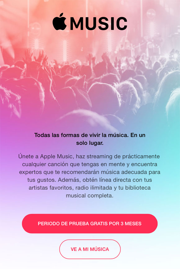Tres meses de prueba gratis de Apple Music