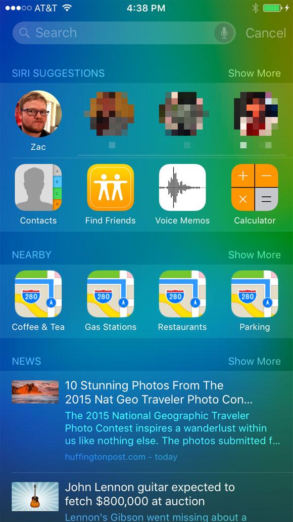 Buscar mis Amigos en iOS 9