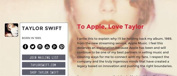 Carta de Taylor Swift
