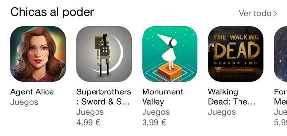 Chicas al Poder en la App Store