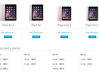 iPads en la web de Apple