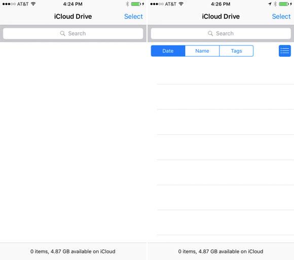 App de iCloud Drive