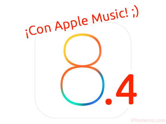 iOS 8.4 con Apple Music