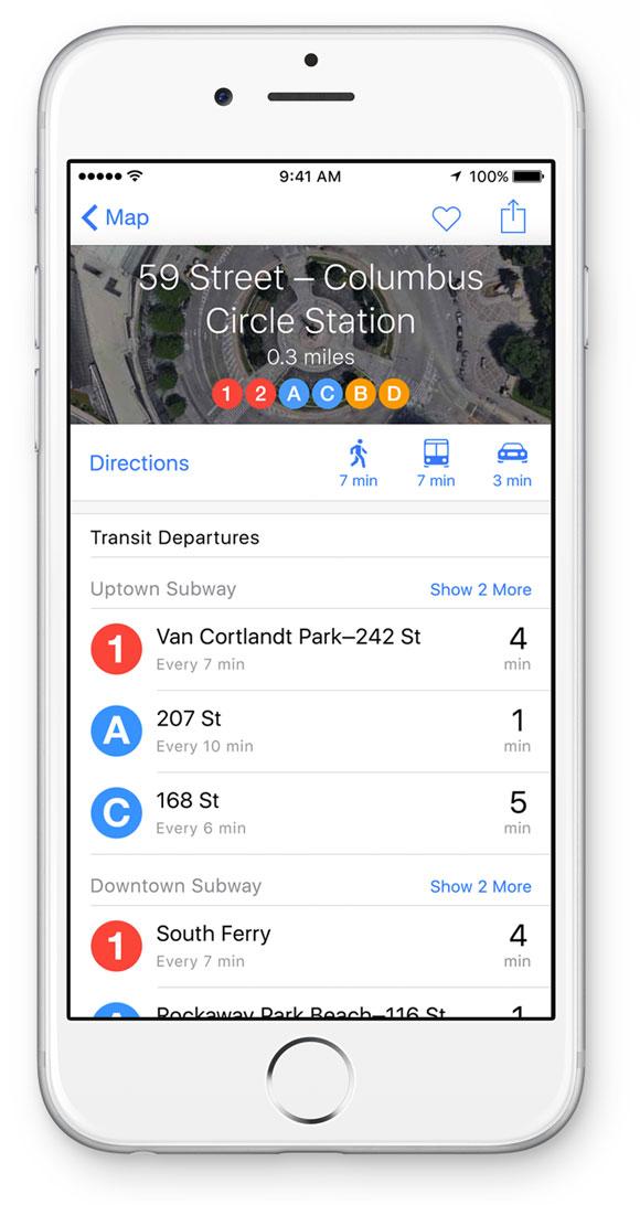 Mapas en iOS 9