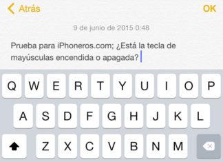 Problema de la tecla mayúsculas en el teclado virtual de iOS 7 y 8